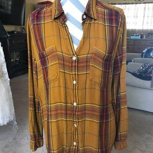 Multi colored oversized flannel